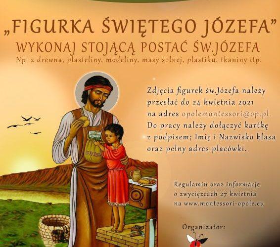 """Konkurs plastyczny- """"Figurka św. Józefa"""""""