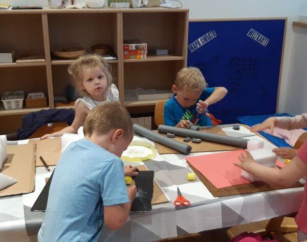 W naszym przedszkolu tak jak na Mini Mieście praca wre