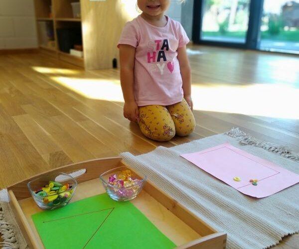 Arbeit mit dem Montessori Material